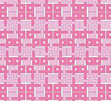Celtic Squares in Pink by Carol Vega