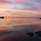 Multicolored Brushstrokes - Silky Sunrise on Lake Ontario by Georgia Mizuleva