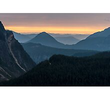 Sunset over the Tatoosh Range Photographic Print