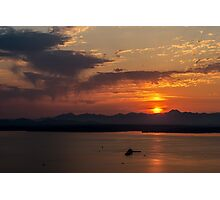 Olympic Sunset Photographic Print