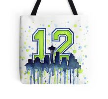 Seattle Seahawks 12th Man Fan Art Tote Bag