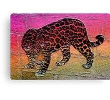 Stoned leopard Canvas Print
