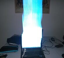 Blowing the laptop up by Russell Nathan Hyer