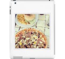 Pizza, burger, fries iPad Case/Skin