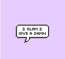 ♡ 2 glam 2 give a damn - purple ♡ by shadowmoses