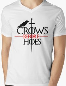 Game of thrones Crows Before Hoes Mens V-Neck T-Shirt