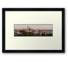Seattle and the Mountain at Dusk Framed Print