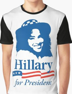Hillary For President - Red White & Blue Graphic T-Shirt