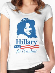 Hillary For President - Red White & Blue Women's Fitted Scoop T-Shirt