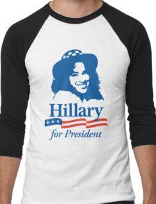 Hillary For President - Red White & Blue Men's Baseball ¾ T-Shirt