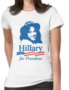 Hillary For President - Red White & Blue Womens Fitted T-Shirt