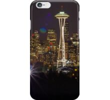 Seattle Skyline at Night iPhone Case/Skin