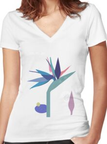 Return from Paradise Women's Fitted V-Neck T-Shirt