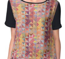 retro triangles in warm colors Chiffon Top