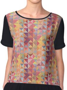 retro triangles in warm colors Chiffon Top