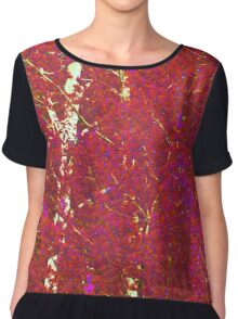 Gabs Red Trees Chiffon Top