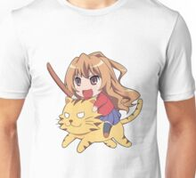 Taiga on a Tiger Unisex T-Shirt