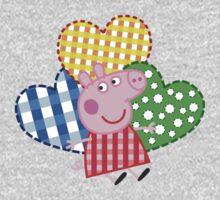 Peppa Pig Hearts Baby Tee