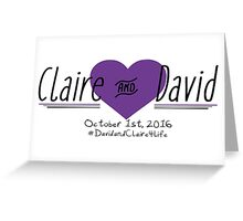Claire and David Logo - #BKClub Greeting Card