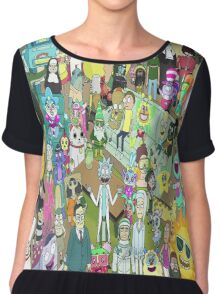 rick and morty waldo Chiffon Top