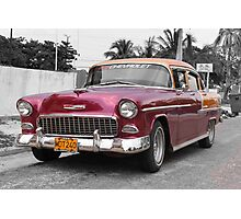 Cuban Chevy Photographic Print