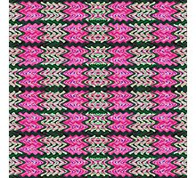 Pink Green Tiled Pattern Photographic Print