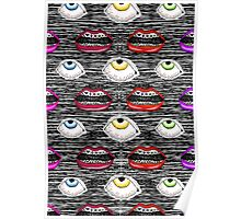 Lips and Eyes Poster