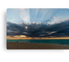 Storm over the Caribbean Canvas Print