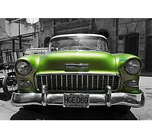 Chevy Bel Air in Cuba Photographic Print
