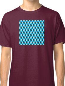 Blue 3D Background  Classic T-Shirt