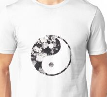 Yin and yang, roses Unisex T-Shirt