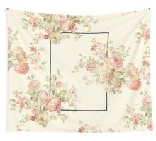 The 1975 - Floral Banner (Rectangle Only) Wall Tapestry