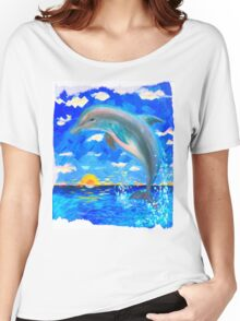 From 5D Realms Dolphin Bliss Women's Relaxed Fit T-Shirt