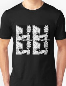 rick and morty split reality Unisex T-Shirt