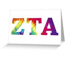 zeta tau alpha tie dye text Greeting Card
