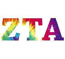 zeta tau alpha tie dye text Photographic Print