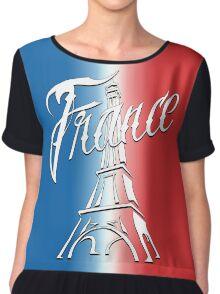 France Tour Eiffel Chiffon Top