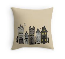Haunted Houses Throw Pillow