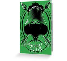 Archery Club Greeting Card