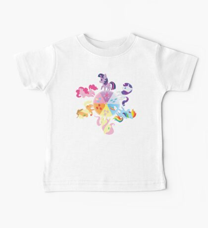 Rainbow Mane Six Baby Tee