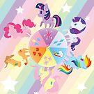 Rainbow Mane Six by mini-niji