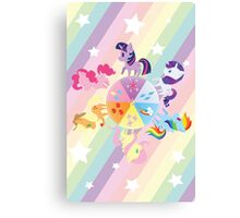 Rainbow Mane Six Canvas Print