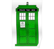 Green Police Call Box. Poster