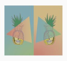 3D Skull Pineapple Mirror Kids Tee