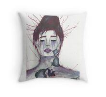 Violet Insides Throw Pillow