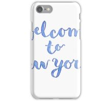 Welcome to New York (blue) iPhone Case/Skin