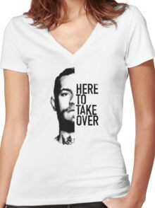McGregor - Here to take over  Women's Fitted V-Neck T-Shirt