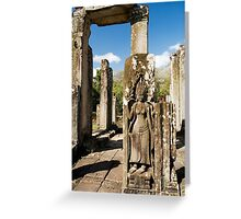 Bayon Temple Ruins in Cambodia Greeting Card