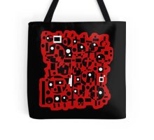 Red and black Tote Bag