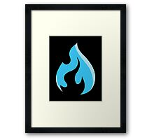 raysfire flame Framed Print